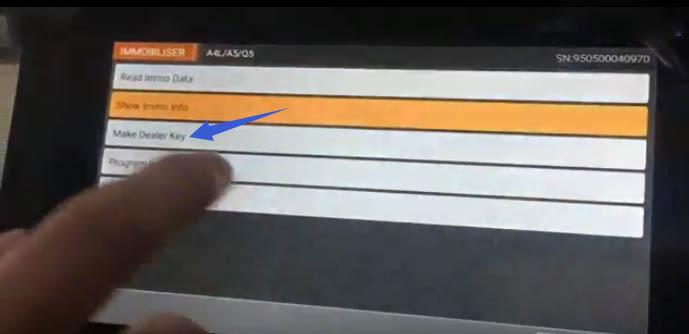 OBDSTAR X300 DP All Key Lost Programming for Audi Q5 A4L (13)